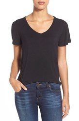 Women's Halogen Modal Jersey V Neck Tee Black