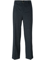 Incotex Wide Leg Tailored Trousers Black