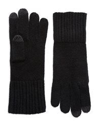 Lord And Taylor Cashmere Tech Gloves Black