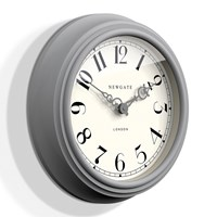 Newgate Clocks The Dormitory Wall Clock Posh Grey