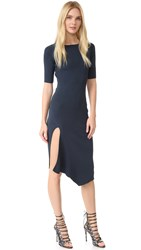Cushnie Et Ochs Short Sleeve Knit Dress Lake