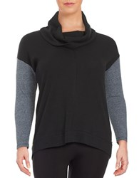 Calvin Klein Performance Plus Colorblocked Cowlneck Sweater Black
