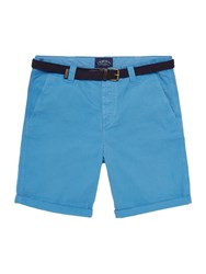 Criminal Travis Cotton Chino Shorts Washed Blue