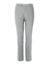 Corsivo Lyon Linen Suit Trousers Grey