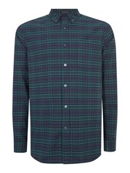 Howick Aylesford Long Sleeve Check Shirt Navy