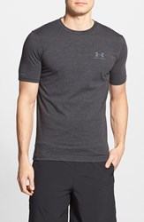 Men's Under Armour 'Sportstyle' Charged Cotton Loose Fit Logo T Shirt Black Steel
