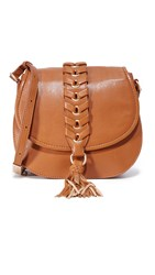 Foley Corinna La Trenza Saddle Bag Honey Brown