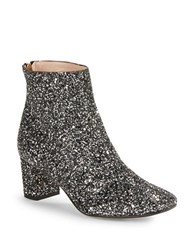 Kate Spade Tal Glitter Ankle Boots Black Silver