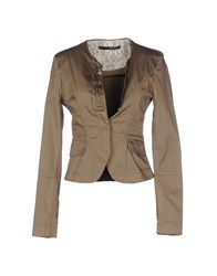 Annarita N. Suits And Jackets Blazers Women Khaki