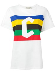 Etre Cecile Flag Oversized T Shirt White