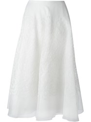 Ralph Lauren Black Label Ralph Lauren Black Long Full Skirt White