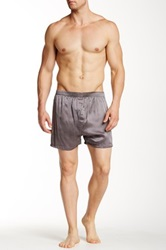 Majestic Wesley Silk Boxer Short Gray