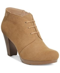 Giani Bernini Odele Lace Up Booties Only At Macy's Women's Shoes Caramel