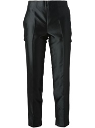Moncler Gamme Rouge Cropped Cigarette Trousers Black
