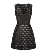Markus Lupfer Tamsin Jacquard Bees Dress Female Black