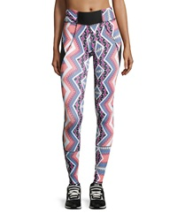 Charlie Jade Tribal Print Leggings Blue Coral Multi