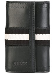 Bally Striped Detailing Elongated Wallet Black