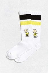 Urban Outfitters Charlie Brown Sport Stripe Sock White