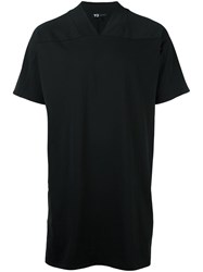 Y 3 Basic V Neck T Shirt Black
