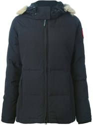 Canada Goose 'Chelsea' Contrasted Panels Padded Jacket Blue