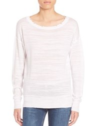 Feel The Piece Everly Slit Back Sweater Optic White