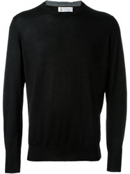 Brunello Cucinelli Crew Neck Sweater Black