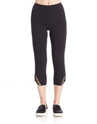 Betsey Johnson Cropped Stretch Leggings Black