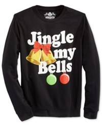 American Rag Men's Jingle Bells Sweatshirt Only At Macy's Black