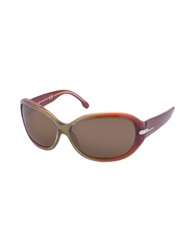 Web Class Plastic Rounded Sunglasses Brown Olive Brown