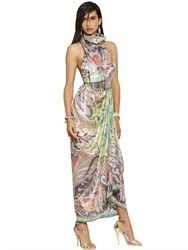Etro Lurex Woven Cashmere And Silk Long Dress