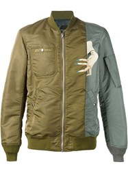 Undercover Hand Print Bomber Jacket Green