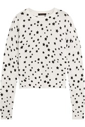 Kate Moss For Equipment Ryder Printed Cashmere Sweater White