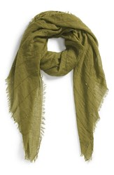 Women's Echo Sequin Embellished Crinkle Wrap Green