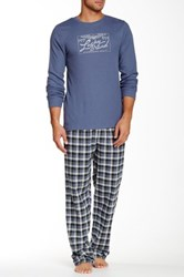 Lucky Brand Thermal Tee And Flannel Pant Set Beige