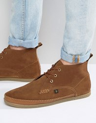 Farah Drape Hi Chukka Boot Brown