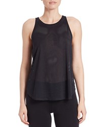 Kensie Mesh Performance Tank Black