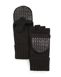 Lauren Ralph Lauren Quilted Pop Top Gloves Black