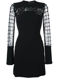 David Koma Studded Dress Black