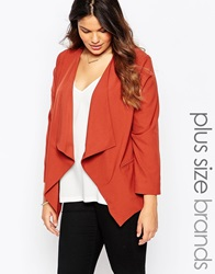 New Look Inspire Waterfall Blazer Chestnut