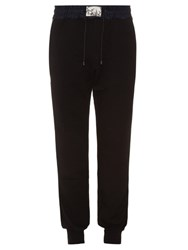 Marc Jacobs Nylon And Cotton Jersey Track Pants Black