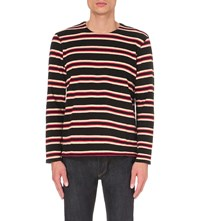 Levis Made And Crafted Striped Knitted Top Red Black Warm White