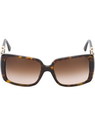 Chanel Vintage Scale Gourmette Sunglasses Black