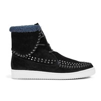 Thakoon Addition Women's Warwick 03 Suede Lace Up Ankle Boots Black Suede Studs