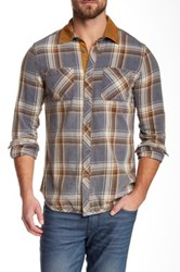 Jeremiah Long Sleeve Slim Fit Shirt Blue