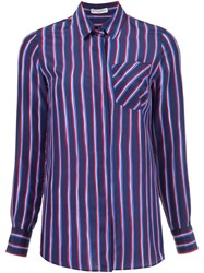 Altuzarra 'Chika' Striped Shirt Blue