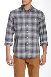 Grayers Vintage Twill Plaid Long Sleeve Regular Fit Shirt Gray