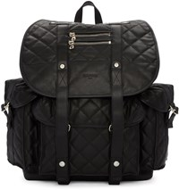 Balmain Black Quilted Backpack