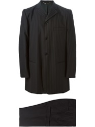 Dolce And Gabbana Vintage Pinstripe Suit Black