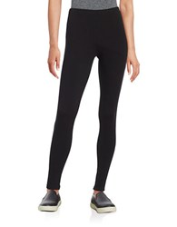 Lord And Taylor Petite Stretch Cotton Leggings Black