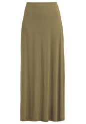 Zalando Essentials Maxi Skirt Khaki